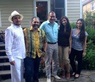 Members of The NAHJ Washington, D.C. Chapter Board with Ray Suarez from PBS NewsHour and Jim Avila from ABC News. Brandon Benavides, Ray Suarez, Jim Avila, Jackie Diaz, and Melissa Macaya.