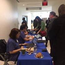 Walk-in job seekers were able to register for the fair on-site for $20